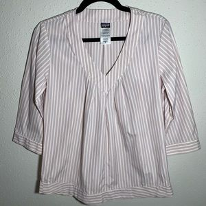 PATAGONIA Womens Size 6 Half Sleeve Vneck Blouse